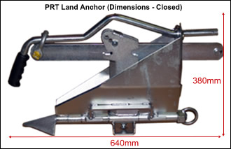 Land Anchor PRT closed with dimensions